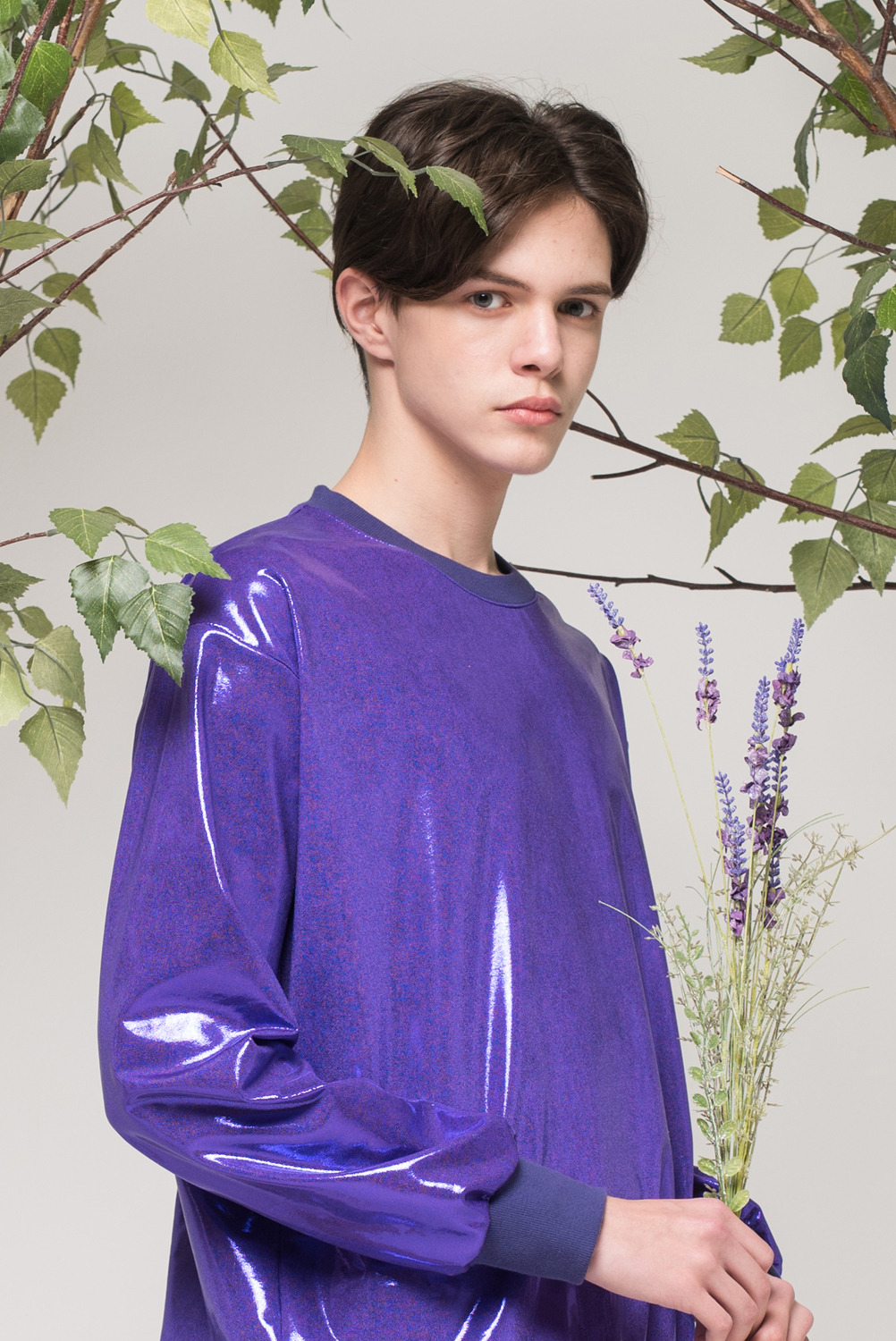 [UNISEX] Lucky fruit Sweatshirt (Violet)