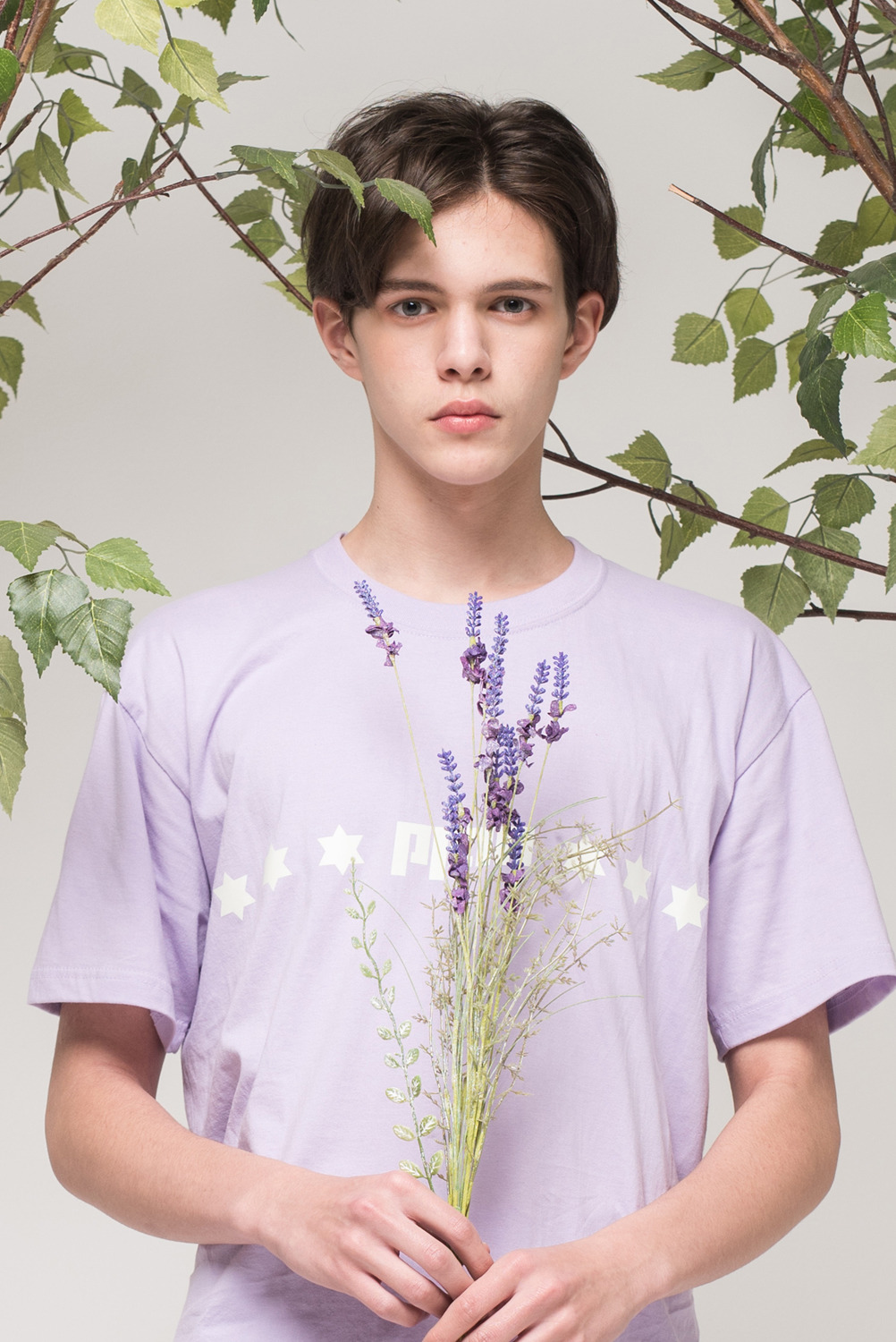 [UNISEX] Luminous star T-shirt (Lavender)