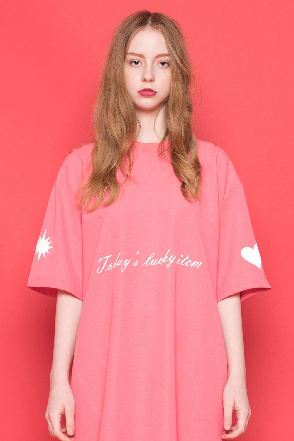 [UNISEX]  Today's lucky item One-piece (Pink)