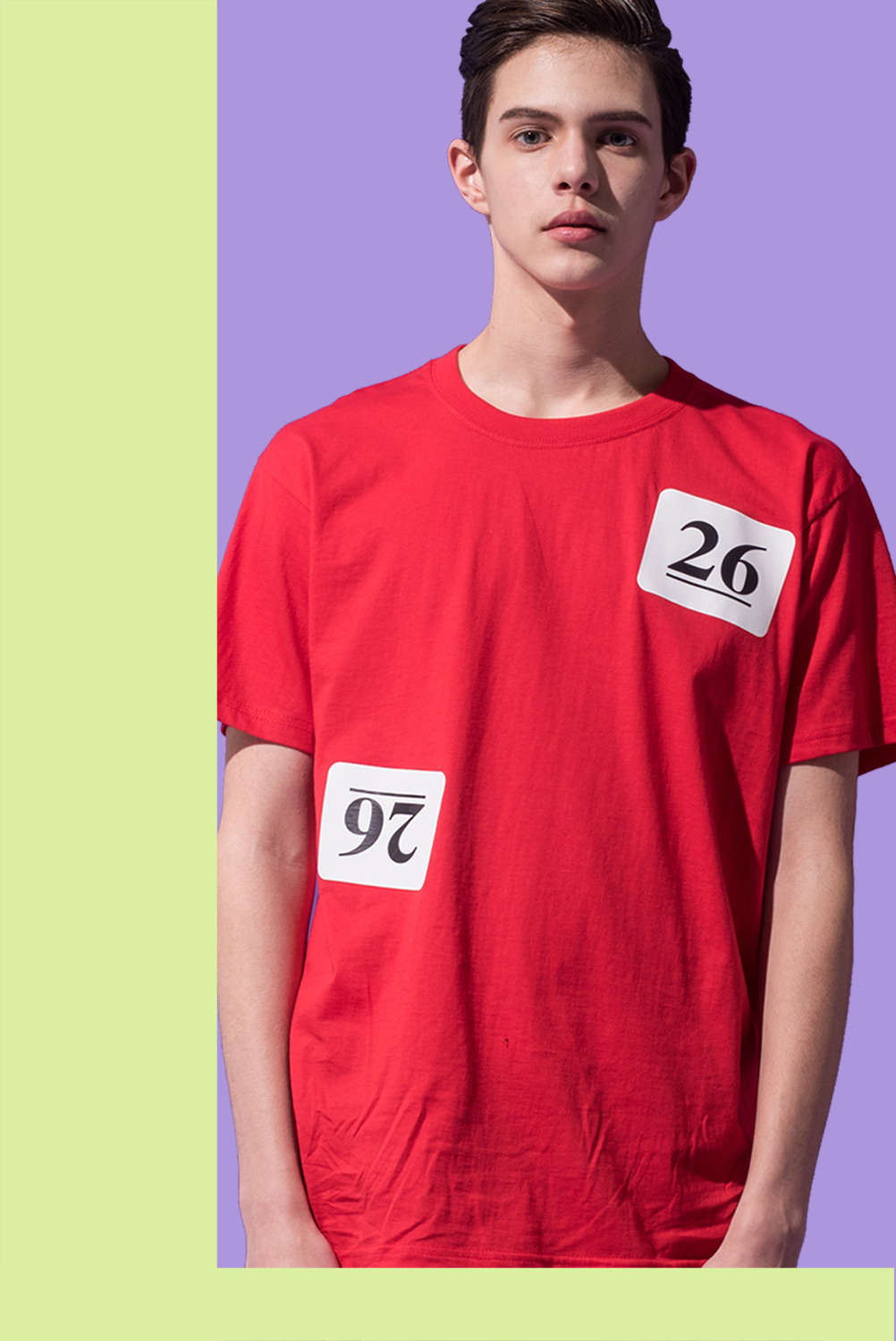 [UNISEX] Lottery Ball NO.26 T-shirt (Red)