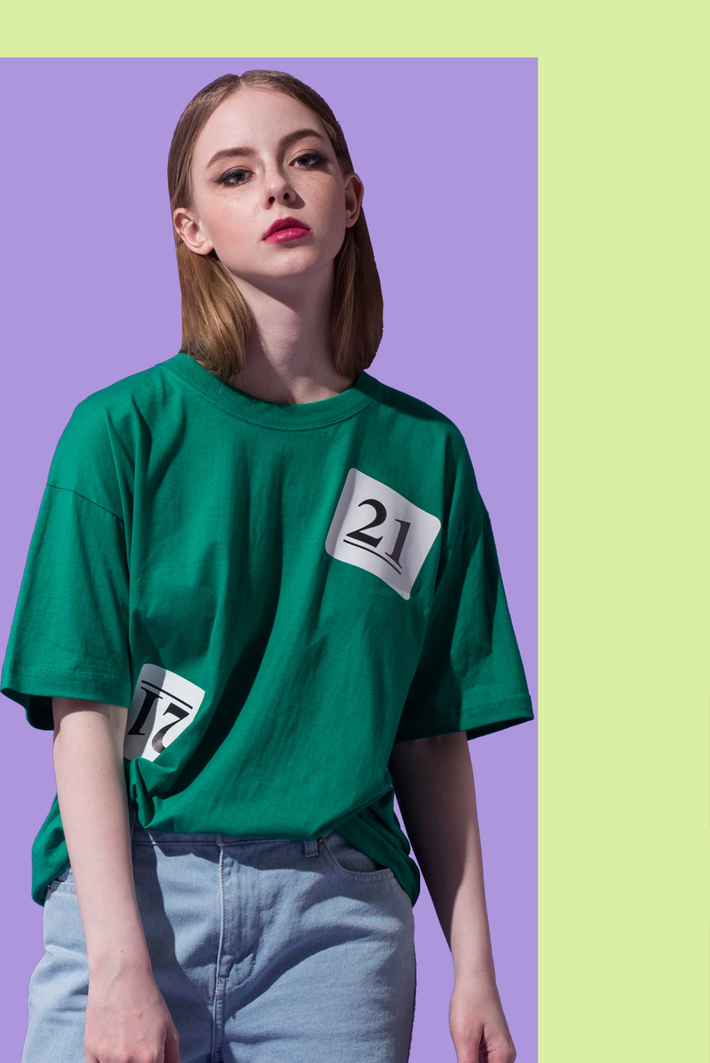 [UNISEX] Lottery Ball NO.21 T-shirt (Green)